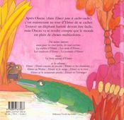 Regarde Elmer Est La - 4ème de couverture - Format classique