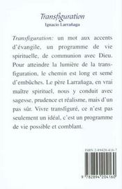Transfiguration - 4ème de couverture - Format classique