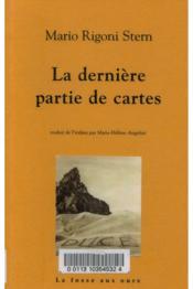 Derniere Partie De Cartes (La) - Couverture - Format classique