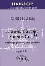 Du procédural à l'objet : les langages c et c++ - Intérieur - Format classique