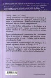Du procédural à l'objet : les langages c et c++ - 4ème de couverture - Format classique