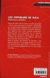 Les orphelins de Naja - 4ème de couverture - Format classique