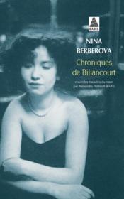 Chroniques De Billancourt - Couverture - Format classique