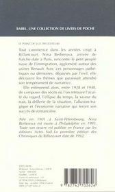 Chroniques De Billancourt Babel 120 - 4ème de couverture - Format classique