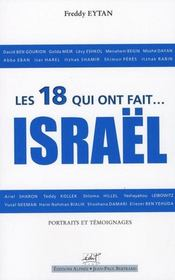 Les 18 qui ont fait israel les 60 ans d israel - Intérieur - Format classique