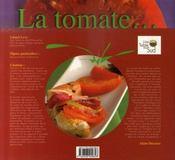 Les mille et une façons d'apprêter la tomate - 4ème de couverture - Format classique