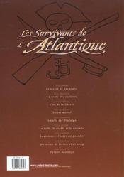 Les survivants de l'Atlantique t.9 ; dernier naufrage - 4ème de couverture - Format classique