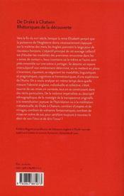 De Drake à Chatwin ; rhétorique de la découverte - 4ème de couverture - Format classique