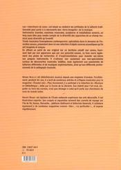 Chercheurs De Sons ; Instruments Inventes, Machines Musicales, Sculptures Et Installations - 4ème de couverture - Format classique