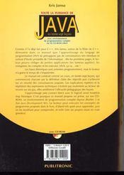 Toute La Puissance De Java - 4ème de couverture - Format classique