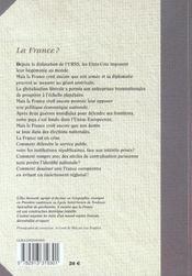 La France ? - 4ème de couverture - Format classique