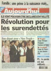 Aujourd'Hui En France N°582 du 28/04/2003 - Couverture - Format classique