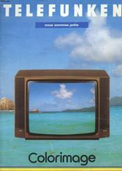 Catalogue - Telefunken - Nous Sommes Prets - Colorimage - Televiseurs Multistands - Couverture - Format classique