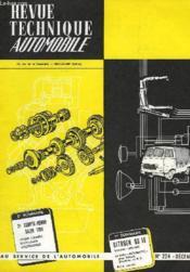 Revue Technique Automobile N°225 - Couverture - Format classique