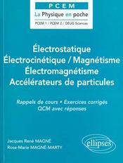 Electrostatique Electrocinetique Magnetisme Electromagnetisme Accelerateurs De Particules - Intérieur - Format classique