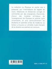 Electrostatique Electrocinetique Magnetisme Electromagnetisme Accelerateurs De Particules - 4ème de couverture - Format classique