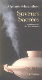 Saveurs sacrées - Couverture - Format classique