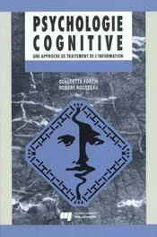 Psychologie Cognitive - Intérieur - Format classique