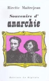 Souvenirs d'anarchie - Intérieur - Format classique