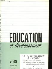 Education Et Developpement N°40 - Couverture - Format classique