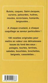100 recettes coquillages et crustaces - 4ème de couverture - Format classique