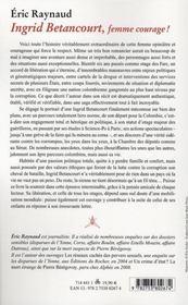 Ingrid Bétancourt, femme courage - 4ème de couverture - Format classique