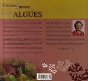 Cuisine et saveur des algues ; les clés d'un équilibre gourmand - 4ème de couverture - Format classique