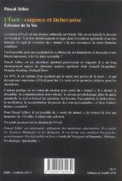 Eveil (L') : Eclosion De La Vie - 4ème de couverture - Format classique