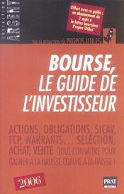 Bourse le guide de l'investisseur (edition 2006) - Intérieur - Format classique