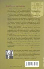 Guerre Au Couteau (Une) - 4ème de couverture - Format classique