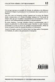 Gestion Environ.Entrepris - Couverture - Format classique