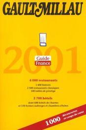 Gault Millau ; Guide France 2001 - Intérieur - Format classique