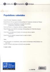 Populations coloniales - 4ème de couverture - Format classique