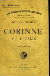 Corinne Ou L'Italie. Tome 1. - Couverture - Format classique