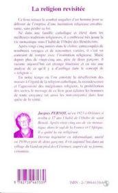 La Religion Revisitee : Temoignages Et Reflexions Sur L'Ambiguite De La Religion - 4ème de couverture - Format classique
