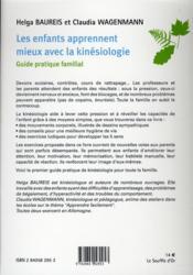 Les enfants apprennent mieux avec la kinésiologie - 4ème de couverture - Format classique