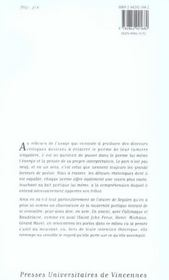 Ce que le poème dit du poème ; Ségalen, Baudelaire, Callimaque, Gauguin, Mace, Michaux ; Saint John Perse - 4ème de couverture - Format classique