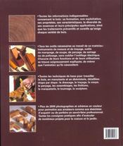 Le grand livre du bois - 4ème de couverture - Format classique