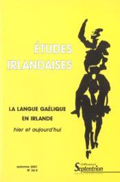 Revue Etudes Irlandaises N 26 2 - Couverture - Format classique