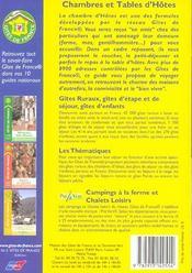 Chambres Et Tables D'Hotes 2004 - 4ème de couverture - Format classique