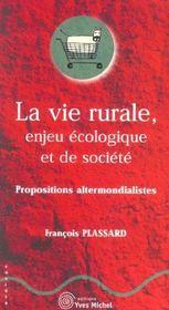 Vie Rurale Enjeu Ecologique Et De Societe (La) - Intérieur - Format classique