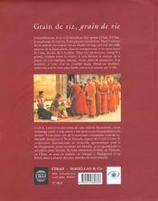 Grain de riz ; grain de vie - 4ème de couverture - Format classique