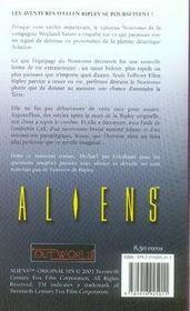 Aliens t.1 ; péché originel - 4ème de couverture - Format classique