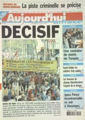 Aujourd'Hui En France N°585 du 02/05/2003 - Couverture - Format classique
