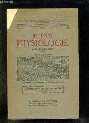 Journal De Physiologie N° 1 Tome 47 1955. Sommaire: Rapports, Communications, Demonstrations... - Couverture - Format classique