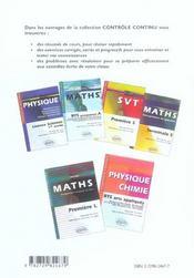 Enseignement scientifique ; sciences physiques/svt ; 1ère L - 4ème de couverture - Format classique