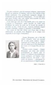 Contes de Sidi-Bel-Abbès - 4ème de couverture - Format classique