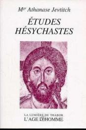 Etudes Hesychastes - Couverture - Format classique