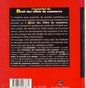 L'Essentiel Du Droit Des Effets De Commerce - 4ème de couverture - Format classique