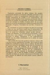 Theatres D'Ombres Tradition Et Modernite - 4ème de couverture - Format classique